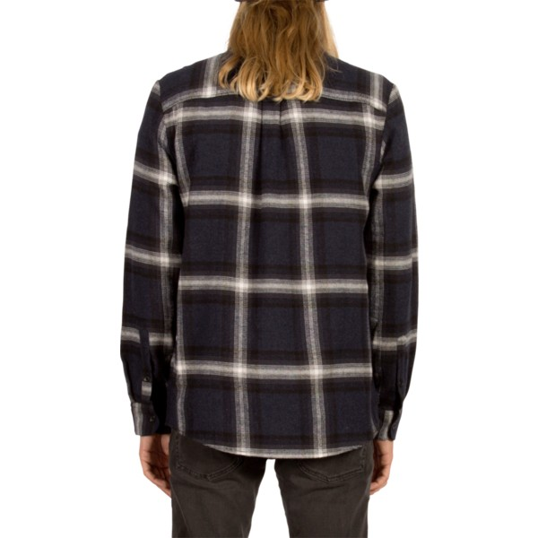 volcom-indigo-lexicon-navy-blue-long-sleeve-check-shirt