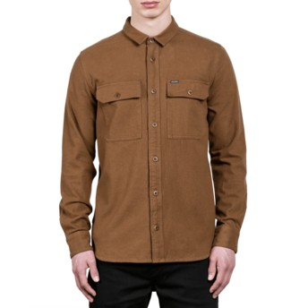Volcom Mud Ketil Brown Long Sleeve Shirt
