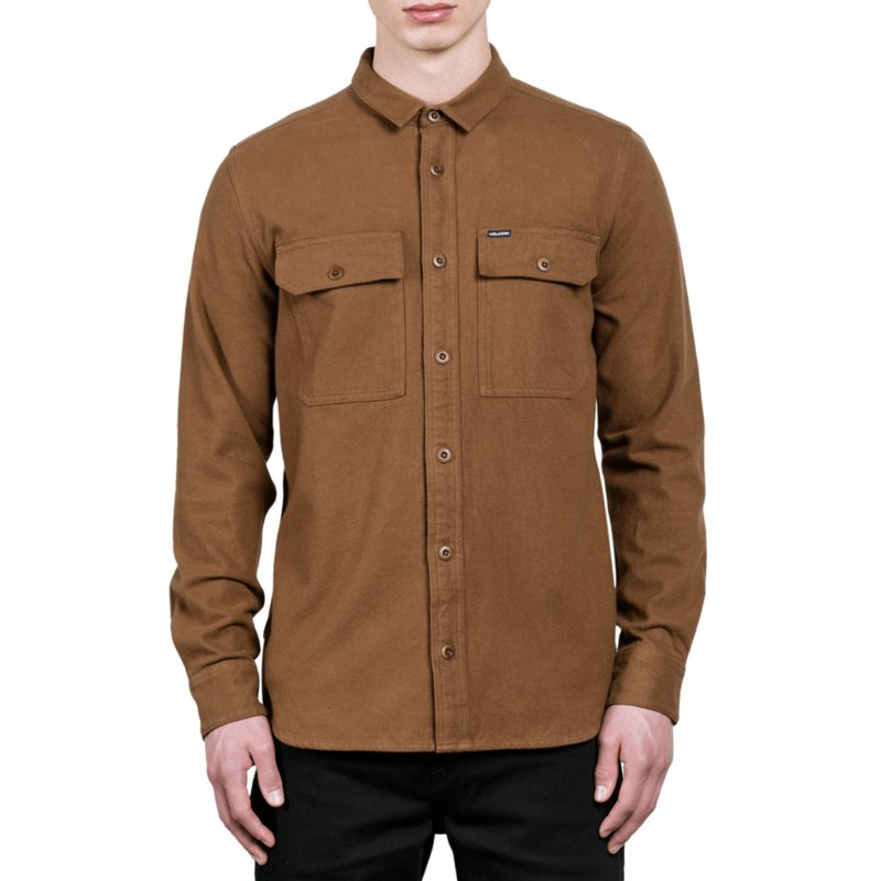 5700b521 Volcom Mud Ketil Brown Long Sleeve Shirt