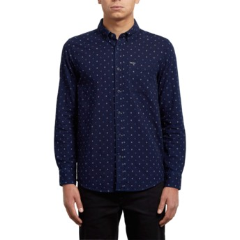 Volcom Indigo Earl Navy Blue Long Sleeve Shirt