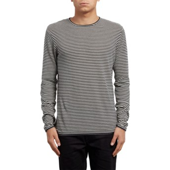 Volcom Clay Harweird Stripe Grey Sweater