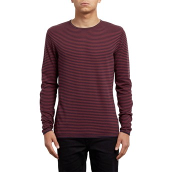 Volcom Crimson Harweird Stripe Red Sweater