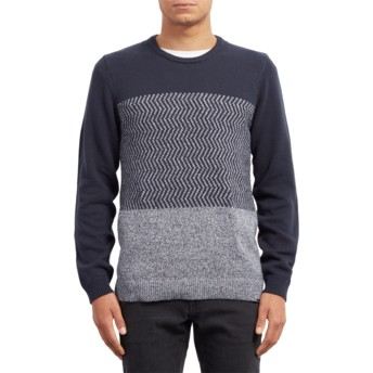 Volcom Navy Bario Update Navy Blue Sweater