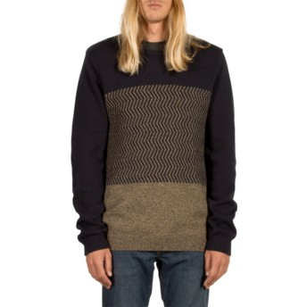 Volcom Navy Bario Navy Blue Sweater