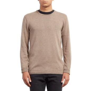 Volcom Khaki Uperstand Beige Sweater