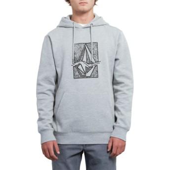 Volcom Heather Grey Supply Stone Grey Hoodie Sweatshirt