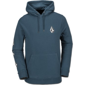 Volcom Navy Green Deadly Stones Blue Hoodie Sweatshirt