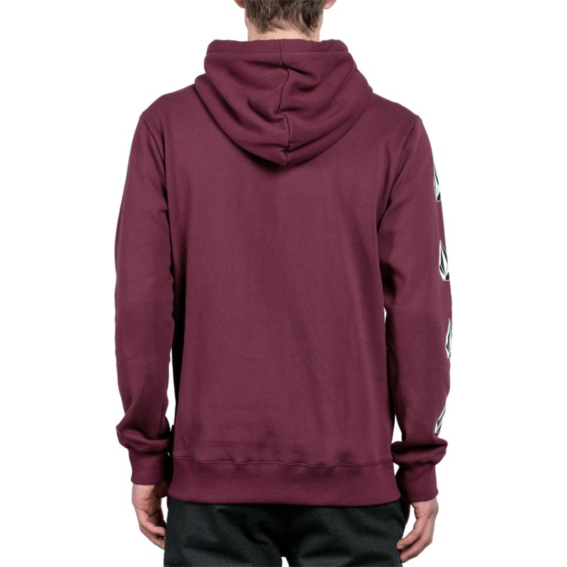 7f6871abc7 Volcom Dark Port Supply Stone Red Hoodie Sweatshirt