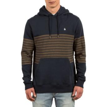 Volcom Navy Threezy Navy Blue Hoodie Sweatshirt