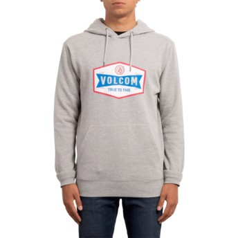 Volcom Heather Grey Supply Stone Grey Hoodie Sweatshirt