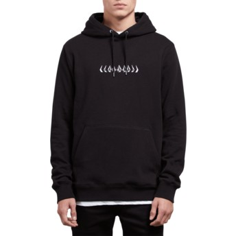 Volcom Black Reload Black Hoodie Sweatshirt