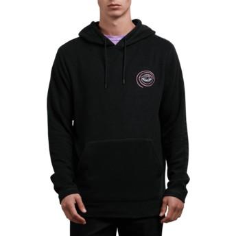 Volcom Black Burch Eye Reverse Black Hoodie Sweatshirt