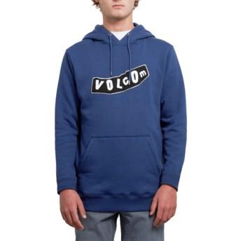 Volcom Matured Blue Supply Stone Blue Hoodie Sweatshirt