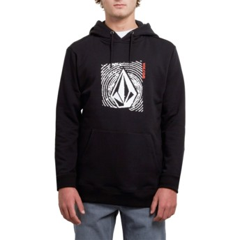 Volcom New Black Supply Stone Black Hoodie Sweatshirt