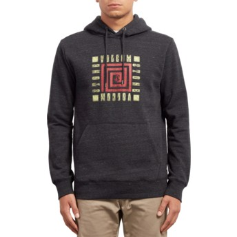 Volcom Sulfur Black Supply Stone Black Hoodie Sweatshirt