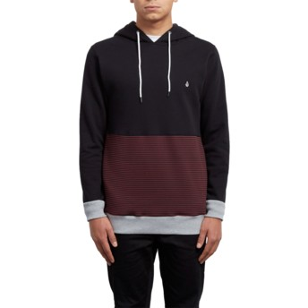 Volcom Crimson 3ZY Black and Red Hoodie Sweatshirt