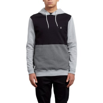Volcom Heather Grey 3ZY Black and Grey Hoodie Sweatshirt