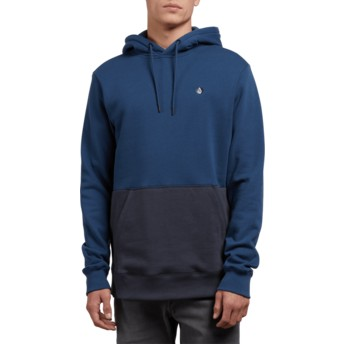 Volcom Matured Blue Single Stone Division Blue Hoodie Sweatshirt