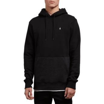 Volcom Sulfur Black Single Stone Division Black Hoodie Sweatshirt