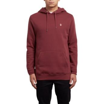 Volcom Crimson Single Stone Red Hoodie Sweatshirt