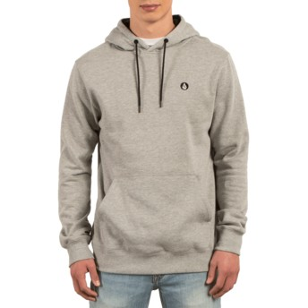 Volcom Grey Single Stone Grey Hoodie Sweatshirt