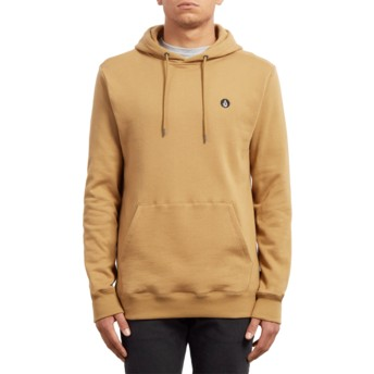 Volcom Old Gold Single Stone Yellow Hoodie Sweatshirt