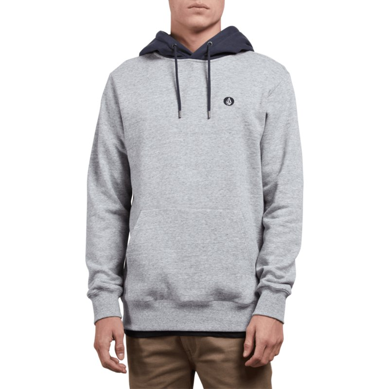 Hoodie Storm Volcom Single Stone Sweatshirt Grey xP4IHI