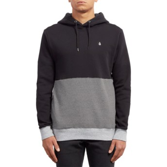 Volcom Black Threezy Black Hoodie Sweatshirt