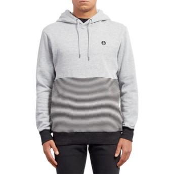 Volcom Grey Threezy Grey Hoodie Sweatshirt