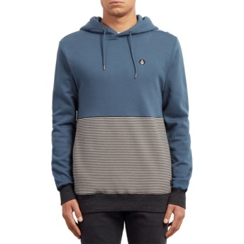 Volcom Navy Green Threezy Blue Hoodie Sweatshirt