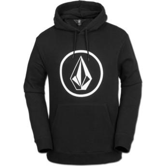 Volcom Black Stone Black Hoodie Sweatshirt