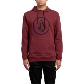 Volcom Crimson Stone Red Hoodie Sweatshirt