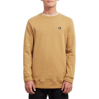 Volcom Old Gold Single Stone Yellow Sweatshirt