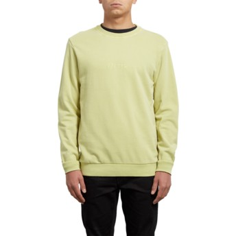 Volcom Shadow Lime Case Yellow Sweatshirt
