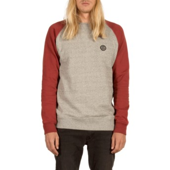 Volcom Cabernet Homak Grey and Red Sweatshirt