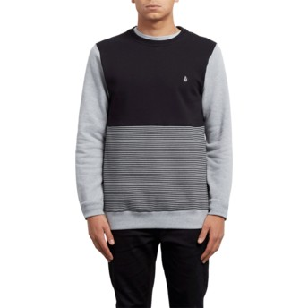 Volcom Heather Grey 3ZY Black and Grey Sweatshirt