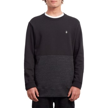 Volcom Sulfur Black Single Stone Division Black Sweatshirt
