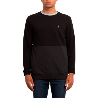 Volcom Black Single Stone Division Black Sweatshirt