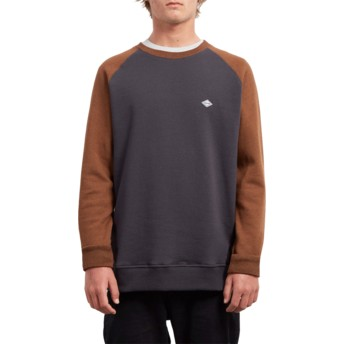 Volcom Hazelnut Homak Black and Brown Sweatshirt