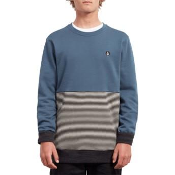 Volcom Navy Green Threezy Blue Sweatshirt