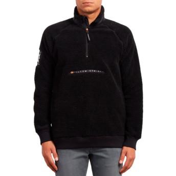 Volcom Black A.P. Mock Black Sweatshirt