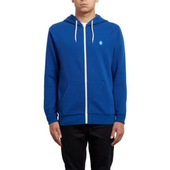 Volcom Camper Blue Iconic Blue Zip Through Hoodie Sweatshirt