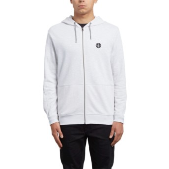 Volcom Clay Litewarp Grey Zip Through Hoodie Sweatshirt