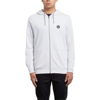 Volcom Clay Litewarp Grey Zip Through Hoodie Sweatshirt
