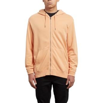 Volcom Summer Orange Case Orange Zip Through Hoodie Sweatshirt
