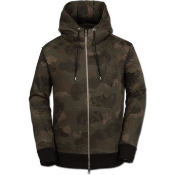 Volcom Camouflage Vsm Empire Camouflage Zip Through Hoodie Sweatshirt