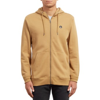 Volcom Old Gold Single Stone Yellow Zip Through Hoodie Sweatshirt