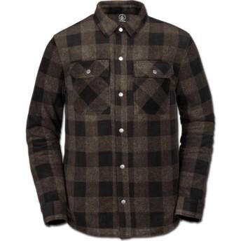 Volcom Old Gold Bower Polar Brown Long Sleeve Shirt
