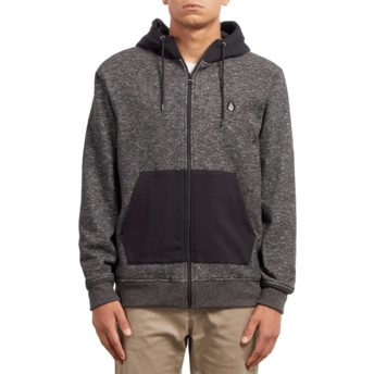 Volcom Black Factual Lined Black Zip Through Hoodie Sweatshirt