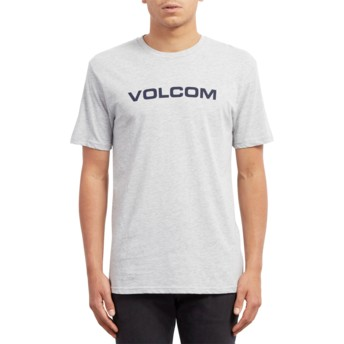 Volcom Black Logo Heather Grey Crisp Euro Grey T-Shirt